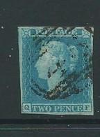 Victoria  1841 2d Imperf Sg13 Pale Blue Plate 4 4 Good Margins Neat Cancel - Usati