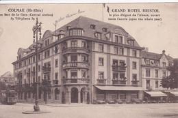 68 COLMAR Grand Hôtel Bristol En Face La Gare ,façade Avec Terrasse , Tramway - Colmar