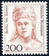 1498 Frauen 200 Pf Bertha Von Suttner ** - Sin Clasificación