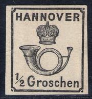 1/2 Groschen Schwarz Auf Weiß - Hannover Nr. 17 Y Ungebraucht Ohne Gummi - Pracht - Hannover