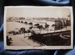 Photo CDV Sans Mention - Bayonne Le Pont St Esprit, Circa 1880 L527 - Old (before 1900)