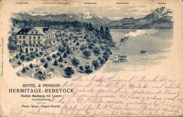 78418- Hotel Hermitage Rebstock Station Seeburg Bei Luzern 1907 - LU Lucerne