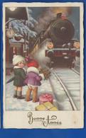 Petite Filles  Train   Bonne Année    . Illustrateur: A BERTIGLIA - Bertiglia, A.