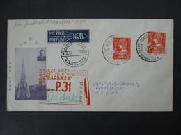 BELGIQUE Lettre 1936 Signée ROBERTI Vol Fusée BARBARA P31 ALBERT PLAGE HEYST Timbre ROCKET MAIL Belgium Stamp Cover - Airmail