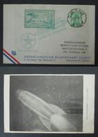 BELGIQUE Carte 1946 Vol Par Fusée Cachet DINANT Nederlandsche Ruimtevaart Studio Timbre ROCKET MAIL Belgium Stamp Cover - Airmail