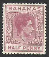 Bahamas, 1/2 P. 1952, Sc # 154, MH. - 1859-1963 Colonia Britannica