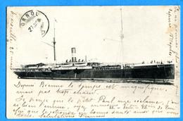 COVRn1445, Bateau, Ferrie, Etoile, Circulée 1908 - Veerboten