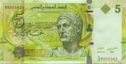 Tunisie 5 Dinars (P95) 2013 (Pref: C/5) -UNC- - Tusesië