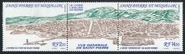 ST-PIERRE ET MIQUELON 1990 - Yv. 530A Tryptique **   Faciale= 2,56 EUR - Saint-Pierre : Port Et Usine  ..Réf.SPM11945 - Unused Stamps