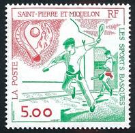 ST-PIERRE ET MIQUELON 1991 - Yv. 547 **   Faciale= 0,76 EUR - Sports Basques  ..Réf.SPM11958 - Unused Stamps