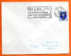 ILE D' AIX HAUT LIEU NAPOLEONIEN   1956 Lettre Entière N° JK 3 - Mechanical Postmarks (Advertisement)