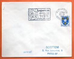 HAGUENAU   QUINZAINE DE LA FORET ET DU BOIS   1956 Lettre Entière N° JK 4 - Mechanical Postmarks (Advertisement)