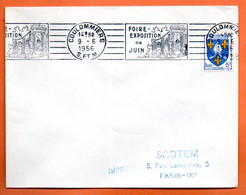 COULOMMIERS    FOIRE   1956 Lettre Entière N° JK 8 - Mechanical Postmarks (Advertisement)