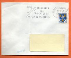FONTAINEBLEAU   EDUCATEURS DE JEUNES INADAPTES   1956 Lettre Entière N° JK 14 - Mechanical Postmarks (Advertisement)