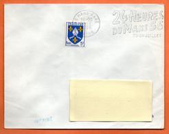 LE MANS GARE   24 HEURES    1956 Lettre Entière N° JK 16 - Mechanical Postmarks (Advertisement)