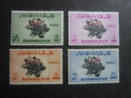 Inde, BAHAWALPUR, Année 1949, Anniversaire U.P.U., TIMBRES De SERVICE, YT N° 25 à 28 Neufs MH* Série Complète. - Bahawalpur
