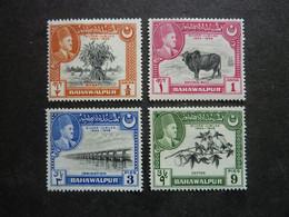 Inde, BAHAWALPUR, Année 1949, YT N° 18 à 21 Neufs MH (cote 60 EUR) - Bahawalpur