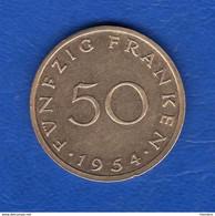 Sarre  50  Fr  1954 - Non Classés