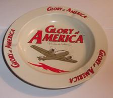 Cendrier Vintage Glory Of America, Splendeur De L'amérique En Métal - Metal