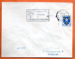 PARIS 37    LA PUBLICITE     1956 Lettre Entière N° JK 32 - Mechanical Postmarks (Advertisement)