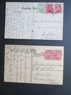 138 - PK Verstuurd Uit Puers Naar Militair Hospitaal Antwerpen + PK Uit Leuwen Naar Nederland - 1915-1920 Albert I