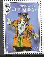 URUGUAY, 2020 ,MNH, CARNIVAL, COSTUMES, 1v - Carnevale