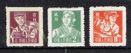 China P.R. 1955 , Mi. 298, 299, 302   Unused - Ungebraucht