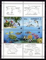 KIRIBATI - 1995 ENVIRONMENTAL PROTECTION SET (4V) IN SHEETLET FINE MNH ** SG 496-499 - Kiribati (1979-...)