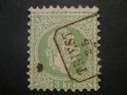Österreich 1867- 3 Kr Kaiser Franz Joseph, Kopfbild Rechts Mi.Nr. 36Ia Stempel Triest Geprüft Und Signiert Rismondo - Used Stamps