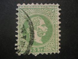 Österreich 1867- 3 Kr Kaiser Franz Joseph, Kopfbild Rechts Mi.Nr. 36Ia Geprüft Und Signiert Rismondo - Used Stamps