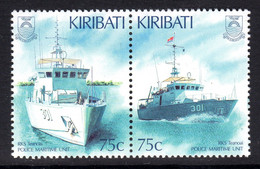 KIRIBATI - 1995 POLICE MARITIME UNIT SET (2V) FINE MNH ** SG 506-507 - Kiribati (1979-...)