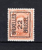 PRE55A-II MNH** 1922 - BRUXELLES 22 BRUSSEL - Typo Precancels 1922-26 (Albert I)