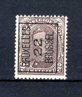 PRE58A MNH** 1922 - BRUXELLES 22 BRUSSEL - Typo Precancels 1922-26 (Albert I)