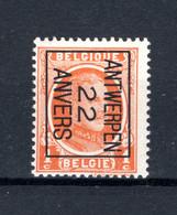 PRE66B MNH** 1922 - ANTWERPEN 22 ANVERS - Typo Precancels 1922-31 (Houyoux)