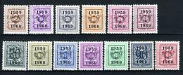 PRE686/698 MNH** 1959 - Cijfer Op Heraldieke Leeuw Type E - REEKS 52 - Typos 1951-80 (Ziffer Auf Löwe)