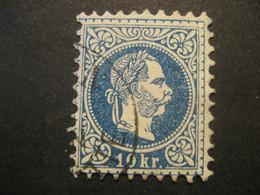 Österreich 1867- 10 Kr Kaiser Franz Joseph, Kopfbild Rechts Mi.Nr. 38Ia Geprüft Und Signiert Rismondo - Used Stamps