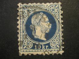 Österreich 1867- 10 Kr Kaiser Franz Joseph, Kopfbild Rechts Mi.Nr. 38Ib Geprüft Leichte Mängel Laut Rismondo - Used Stamps