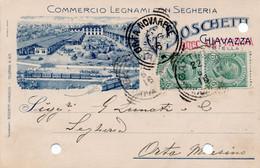 BOSCHETTI - LEGNAMI CON SEGHERIA - CHIAVAZZA  SUCC. GATTINARA - VIAGGIATA - Werbepostkarten