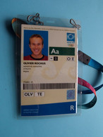 ATHENS 2004 - Athlete OLIVIER ROCHUS Belgium / Accreditation CARD ( OLYMPIC GAMES ) With ORIGINAL Lanyard / Cordon ! - Altri