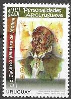 URUGUAY, 2020 ,MNH, AFROURUGUYAN PERSONALITIES, WRITERS, JACINTO VENTURA DE MOLINA,1v - Scrittori