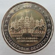 AL20007.2F - ALLEMAGNE - 2 Euros Commémo. Mecklenburg-Vorpommern - 2007 F - Alemania