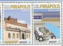 URUGUAY, 2020 ,MNH, TOURISM, PIRIÁPOLIS, ARCHITECTURE, 2v - Altri