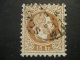 Österreich 1867- 15 Kr Kaiser Franz Joseph, Kopfbild Rechts Mi.Nr. 39Ia Geprüft Und Signiert Rismondo - Used Stamps