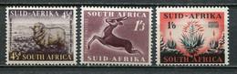 South Africa Südafrika Union Mi# 234-6 Postfrisch/MNH - Fauna + Flora - Unused Stamps