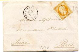 France Seine Vaugirard N° 13A Obl PC Et T15 Du 20 Déc 1858 - 1849-1876: Klassik