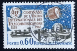 République Française - P4/8 -(°)used - 1965 - Michel 1510 - 100 Jaar UIT - Usados