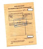 Déclaration Importation Argent En DDR Allemagne De L'est - Banco & Caja De Ahorros