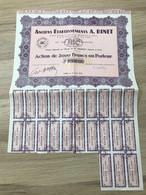 Action De 5000 Francs / Paris / Anciens Établissements A.Binet / 1953 - Aviazione