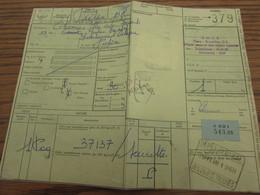 Lettre De Voiture Oblitérée DEPOT CENTRAL DES OBJETS TROUVES En 1968 - Otros