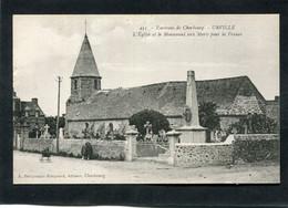 CPA - URVILLE - L'Eglise Et Le Monument Aux Morts Pour La France - Altri Comuni